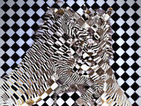 Cubist Zebras Photographic Print by Dee Smart