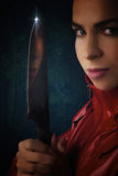 Dangerous Woman With A Knife Photographic Print by Ricardo Demurez