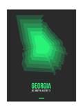 Georgia Radiant Map 4 Prints by  NaxArt