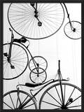 Bicycle Display at Swiss Transport Museum, Lucerne, Switzerland Framed Photographic Print by Walter Bibikow