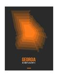 Georgia Radiant Map 5 Posters by  NaxArt