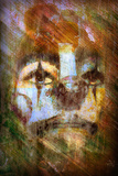 Painterly Clown Photographic Print by Dee Smart