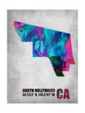 North Hollywood California Print by  NaxArt