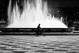 Cycling Through The Square Fotoprint van Eugenia Kyriakopoulou