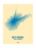 West Virginia Radiant Map 1 Prints by  NaxArt