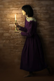 Seeking Woman With A Candle Photographic Print by Ricardo Demurez