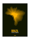 Brazil Radiant Map 1 Posters by  NaxArt
