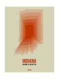 Indiana Radiant Map 3 Prints by  NaxArt
