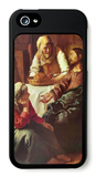Christ with Mary and Martha iPhone 5 Case by Jan Vermeer