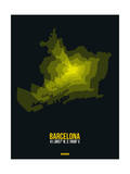 Barcelona Radiant Map 1 Print by  NaxArt