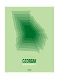 Georgia Radiant Map 3 Posters by  NaxArt