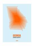 Georgia Radiant Map 1 Print by  NaxArt