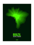Brazil Radiant Map 2 Prints by  NaxArt