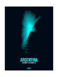 Argentina Radiant Map 1 Prints by  NaxArt