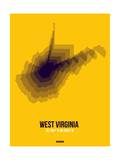 West Virginia Radiant Map 3 Prints by  NaxArt