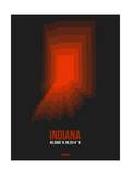 Indiana Radiant Map 4 Print by  NaxArt