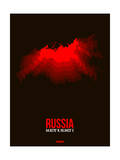 Russia Radiant Map 1 Print by  NaxArt
