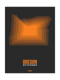 Oregon Radiant Map 4 Posters by  NaxArt