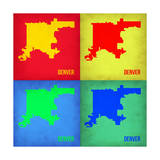 Denver DC Pop Art Map 1 Print by  NaxArt