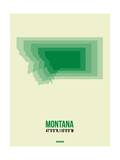 Montana Radiant Map 1 Prints by  NaxArt