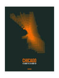 Chicago Radiant Map 4 Print by  NaxArt