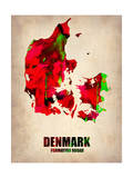 Denmark Watercolor Poster Posters by  NaxArt