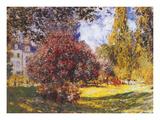 Le Parc Monceau Premium Giclee Print by Claude Monet
