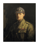 Churchill in His Uniform as Colonel of the 6th Battalion, the Royal Scots Fusiliers Premium Giclée-tryk af Sir John Lavery