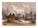 Kent Oast Houses Premium Giclee Print by Ron Folland
