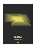 Nebraska Radiant Map 5 Prints by  NaxArt