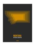 Montana Radiant Map 4 Posters by  NaxArt
