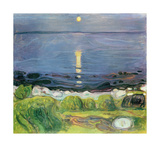 Summer Night At The Shore Premium Giclee Print by Edvard Munch