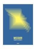Missouri Radiant Map 3 Print by  NaxArt