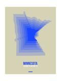 Minnesota Radiant Map 3 Print by  NaxArt