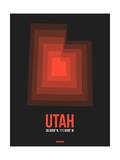 Utah Radiant Map 6 Posters by  NaxArt