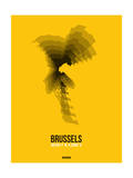 Brussels Radiant Map 4 Posters by  NaxArt
