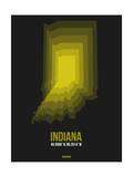 Indiana Radiant Map 6 Prints by  NaxArt