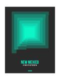 New Mexico Radiant Map 5 Print by  NaxArt