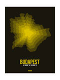 Budapest Radiant Map 1 Posters by  NaxArt