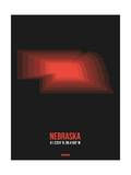 Nebraska Radiant Map 6 Print by  NaxArt