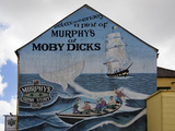 "Wall Mural on the ""Moby Dick"" Pub Wall, Youghal, County Cork, Ireland Photographic Print by Green Light Collection"