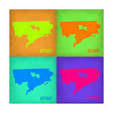Detroit Pop Art Map 1 Poster by  NaxArt