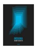 Indiana Radiant Map 5 Print by  NaxArt