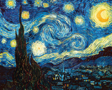 The Starry Night, June 1889 ジクレープリント : フィンセント・ファン・ゴッホ