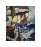 A Deck Scene Premium Giclee Print by Herbert Barnard John Everett