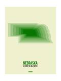 Nebraska Radiant Map 3 Prints by  NaxArt