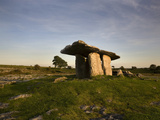 The 6,000 Year Old Poulnabrone Dolmen, the Burren, County Clare, Ireland Photographic Print by Green Light Collection