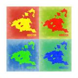 Houston Pop Art Map 1 Art by  NaxArt