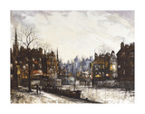 Canal St Martin Premium Giclee Print by Ron Folland