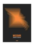 Missouri Radiant Map 4 Prints by  NaxArt